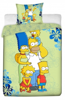 die Simpsons Bettwaesche Family