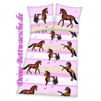 pferde bettw sche mustang aus 100 baumwolle onlineshop f r bettw sche spielwaren und heimtextilien. Black Bedroom Furniture Sets. Home Design Ideas
