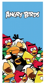 Angry Birds Strandtuch Crowded 75 x 150 cm aus Baumwolle