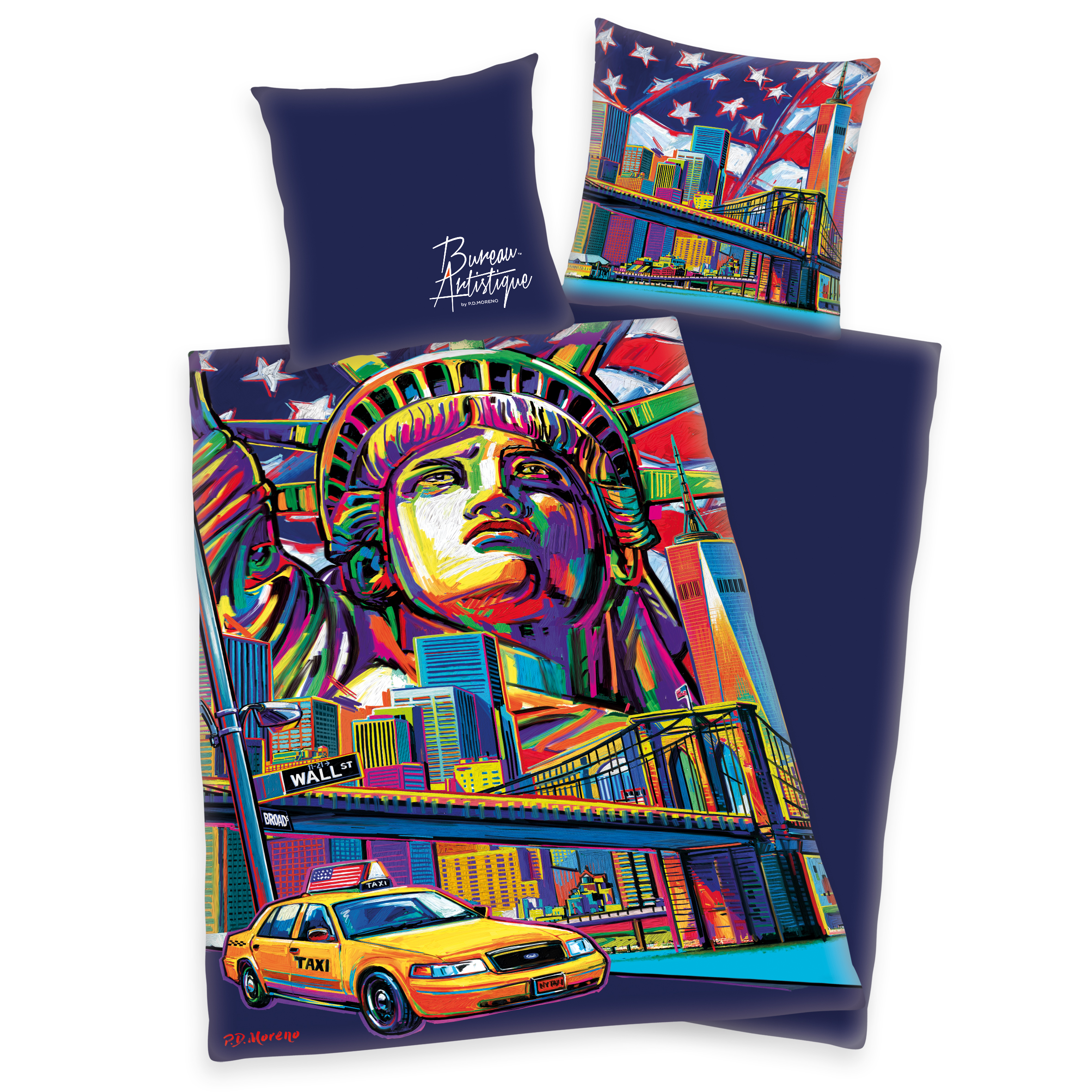 Bureau Artistique Satin Bettwäsche Newyork Onlineshop Für Bettwäsche