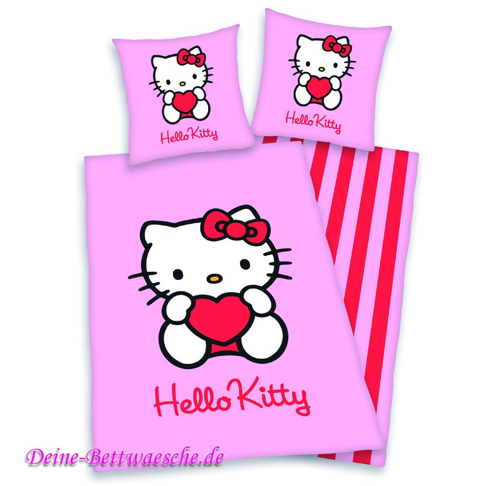 Hello Kitty Bettwäsche Pink 100 Baumwolle Onlineshop Für Bettwäsche