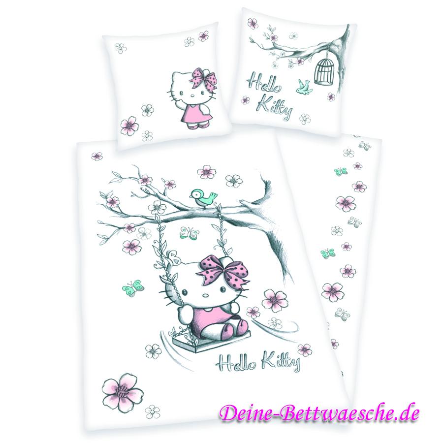 Hello Kitty Bettwäsche Weiss 100 Baumwolle Onlineshop Für