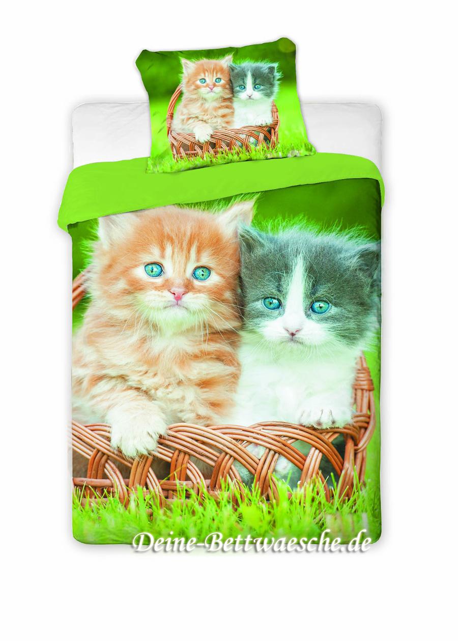 Katzen Bettwäsche Duett 100 Baumwolle Onlineshop Für Bettwäsche