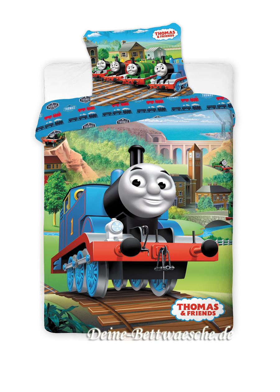 thomas die kleine lokomotive bettw sche 100 baumwolle. Black Bedroom Furniture Sets. Home Design Ideas